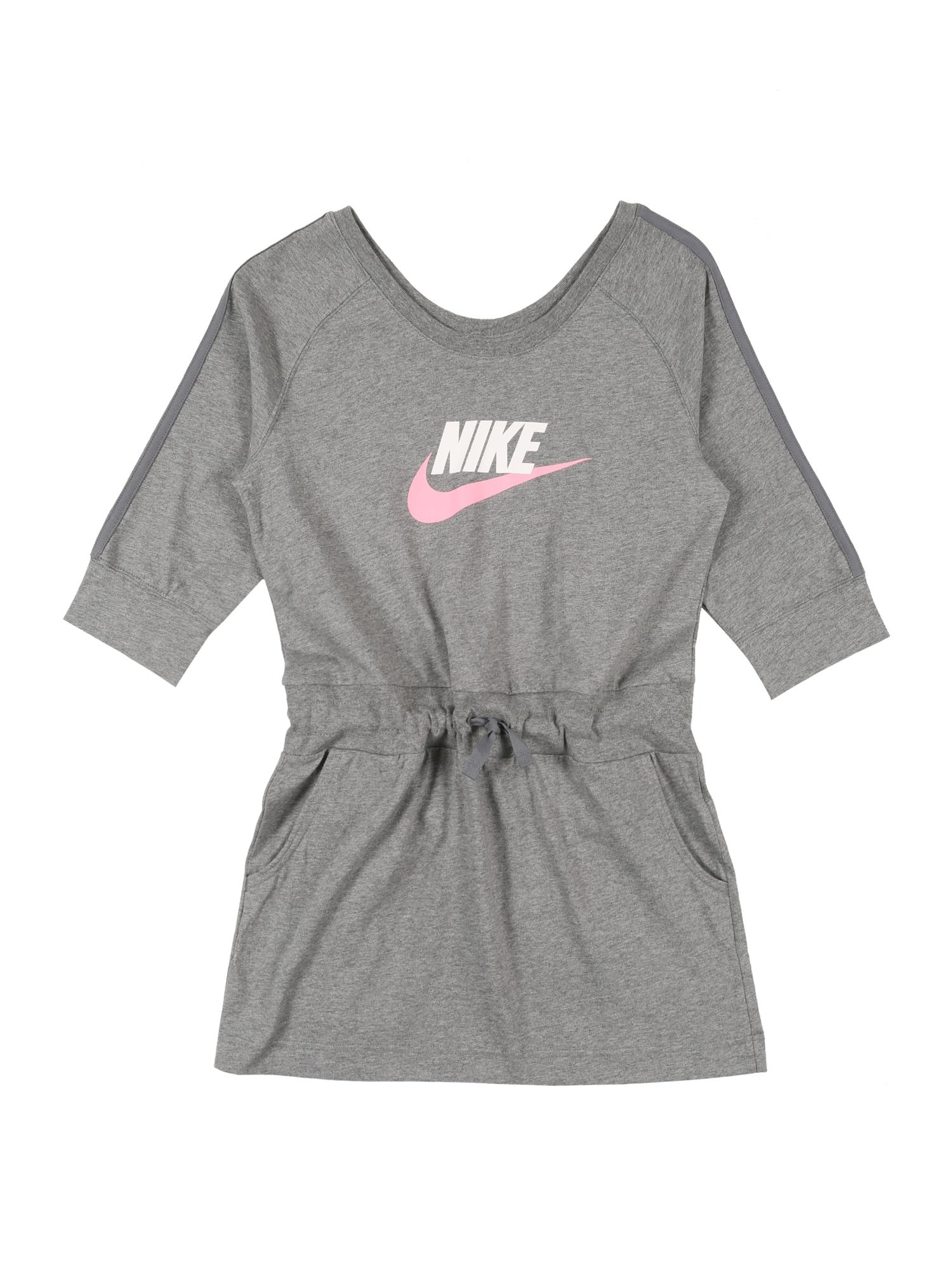 Nike Sportswear Šaty  sivá / ružová