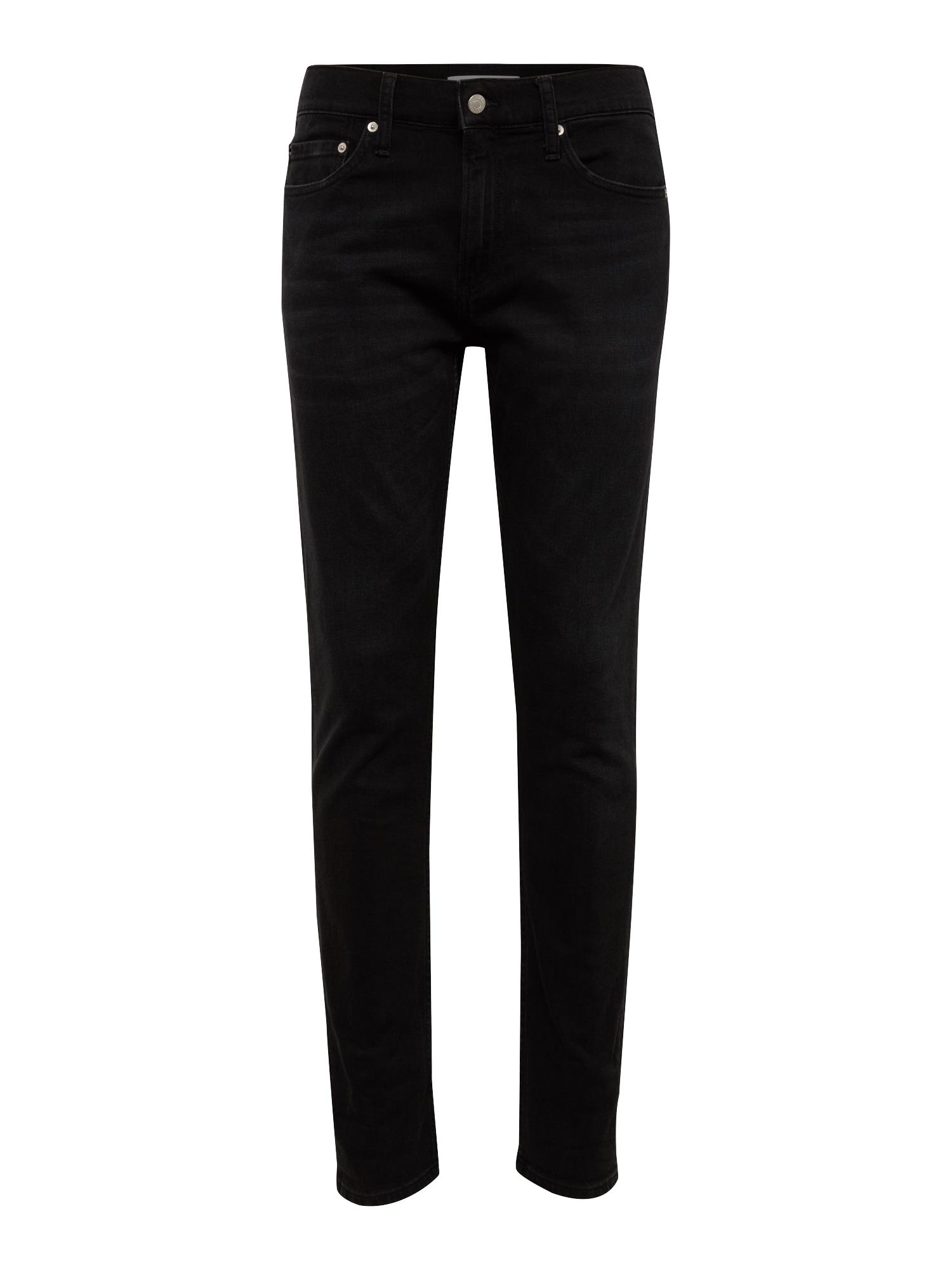Calvin Klein Jeans Džinsai 'CKJ 026 SLIM' juodo džinso spalva