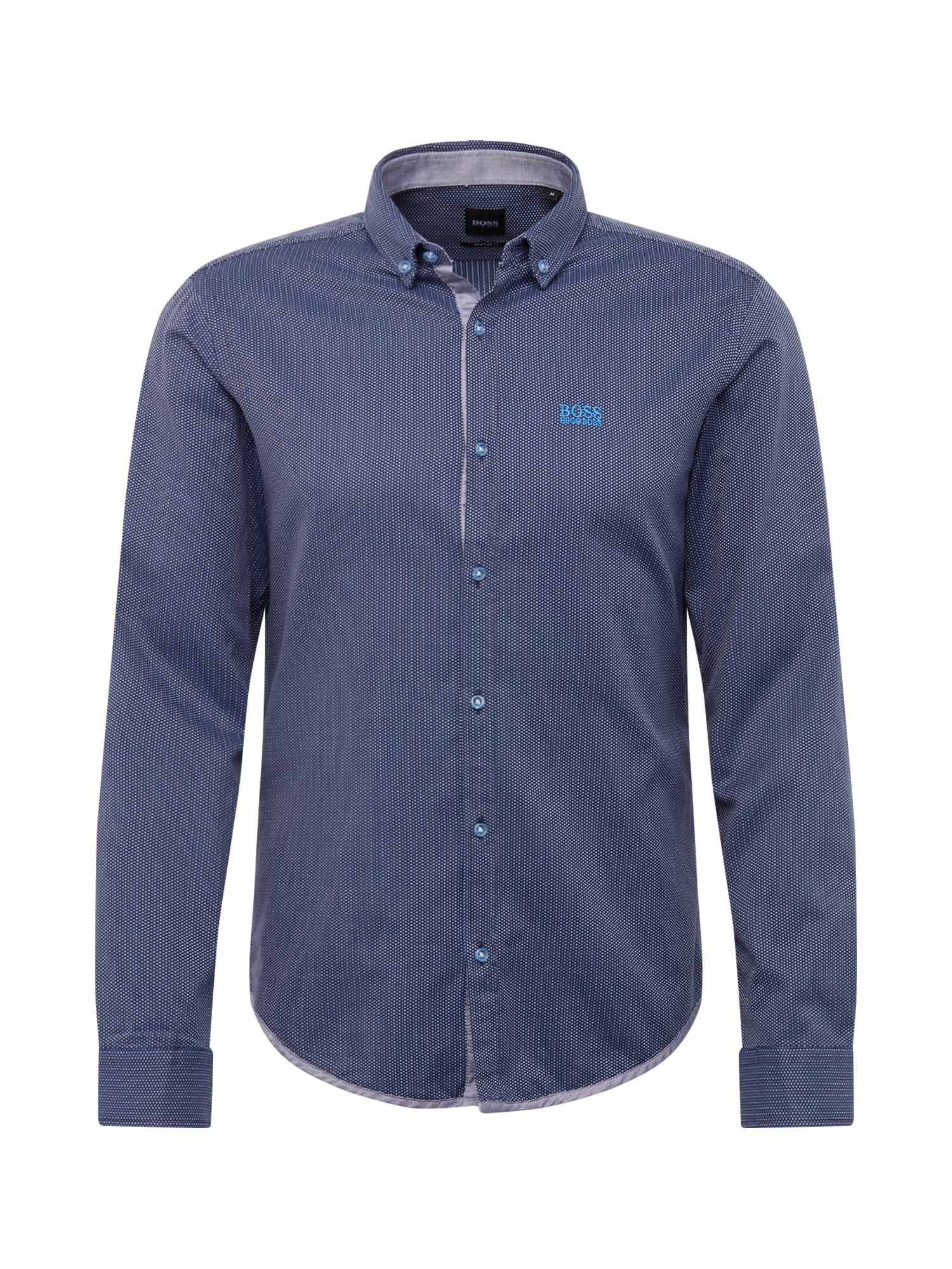 BOSS ATHLEISURE Dalykiniai marškiniai 'BIADO' mėlyna