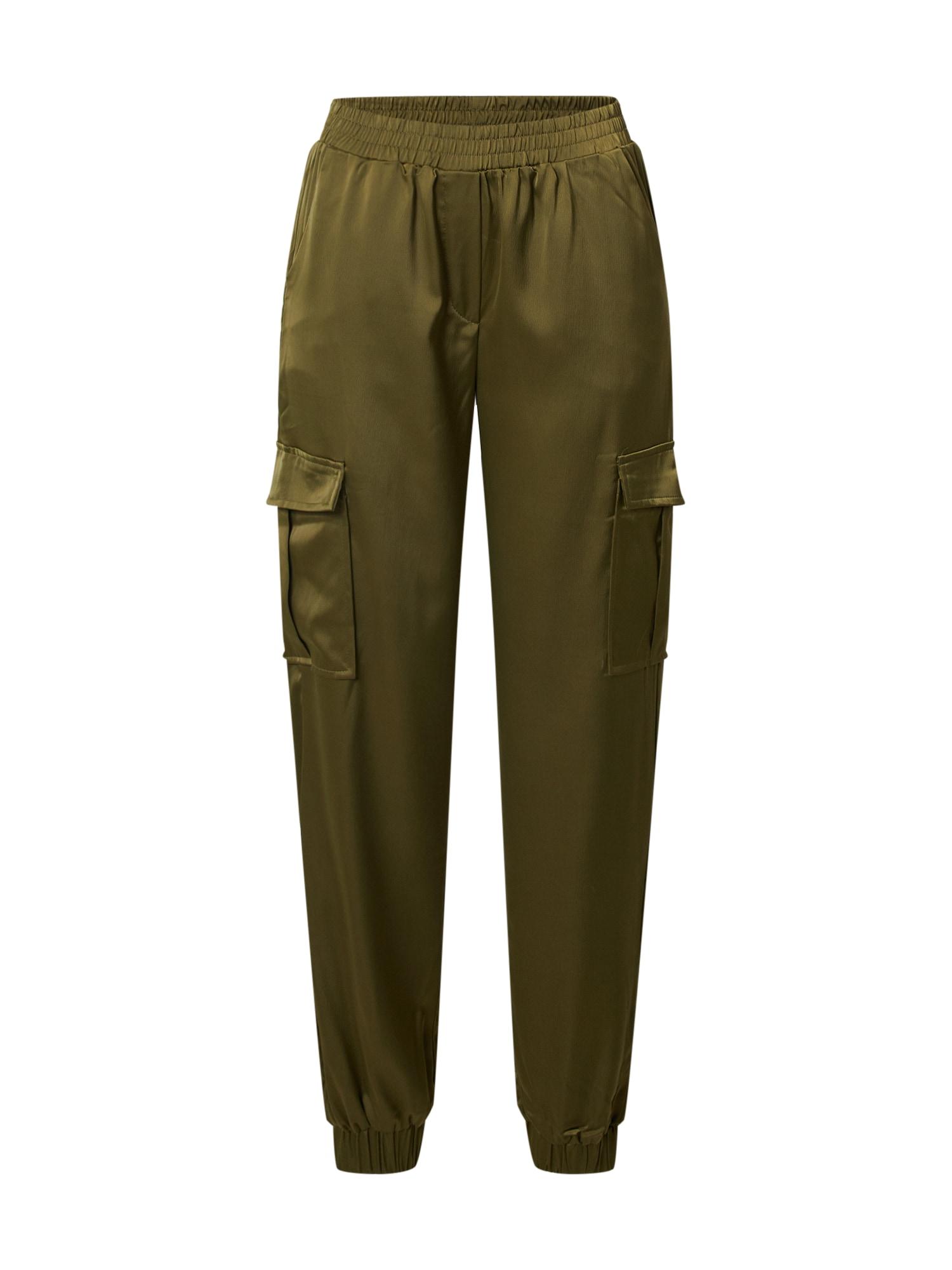 b.young Laisvo stiliaus kelnės 'DXJUNOL' rusvai žalia