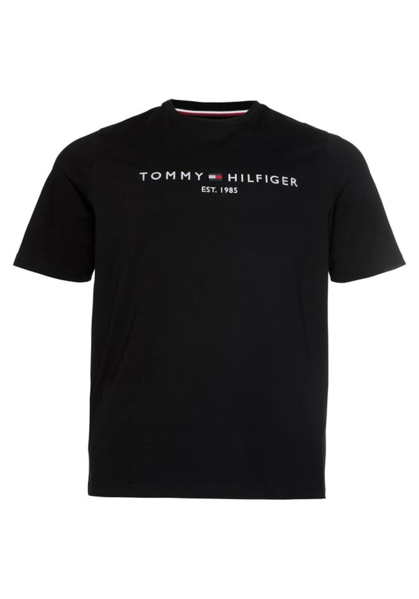 Tommy Hilfiger Big & Tall Marškinėliai raudona / juoda / balta
