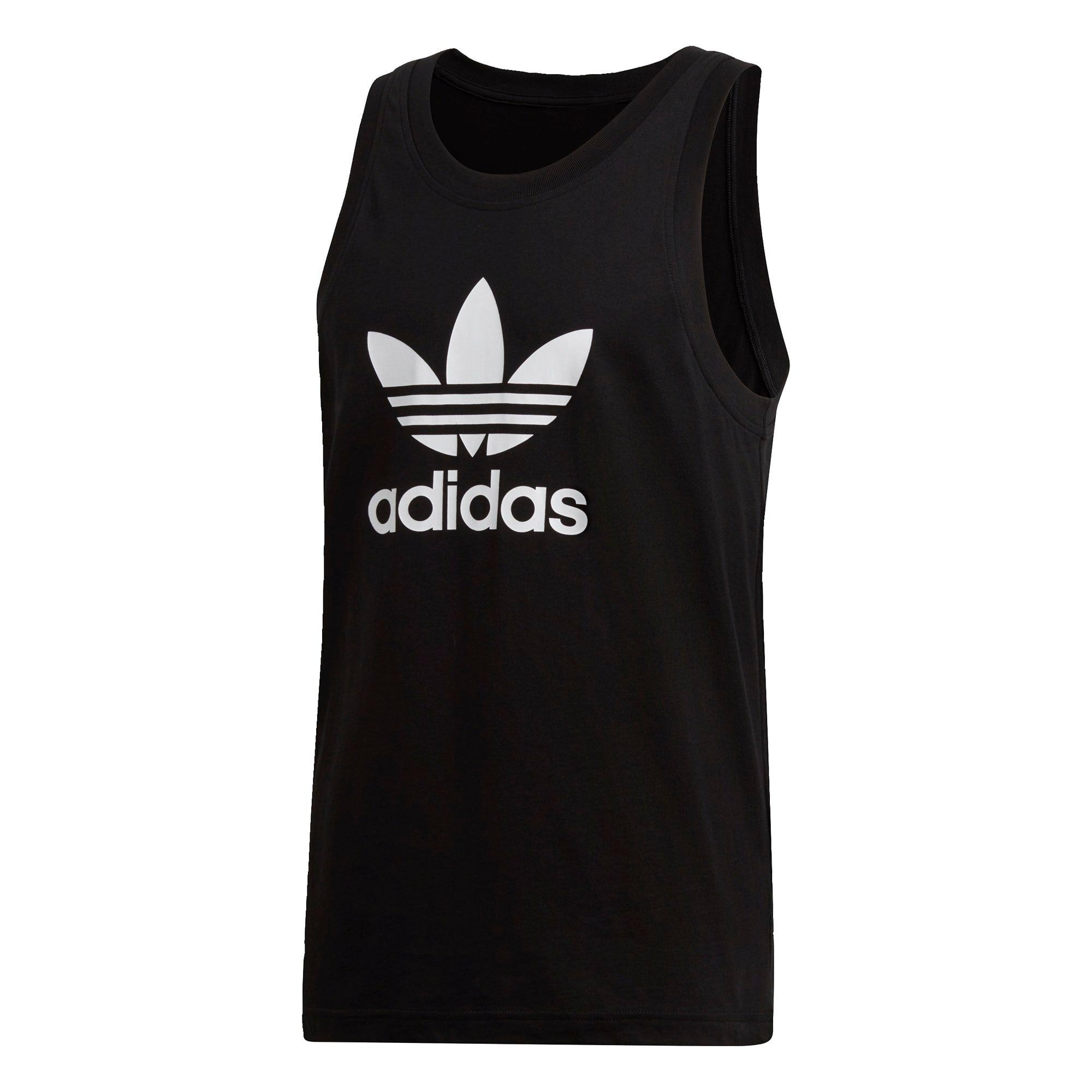 ADIDAS ORIGINALS Marškinėliai 'Trefoil' balta / juoda