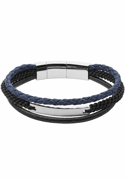 Armbaender für Frauen - FOSSIL Armband 'MENS CASUAL' blau schwarz silber  - Onlineshop ABOUT YOU