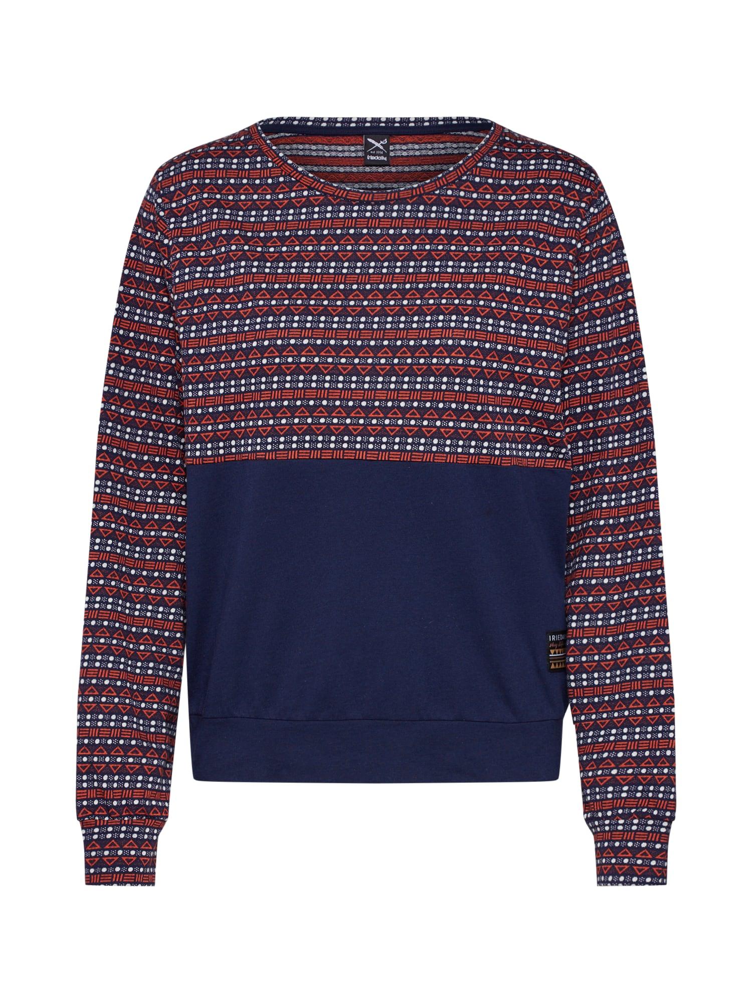 Tričko Naskap LS námořnická modř červená Iriedaily