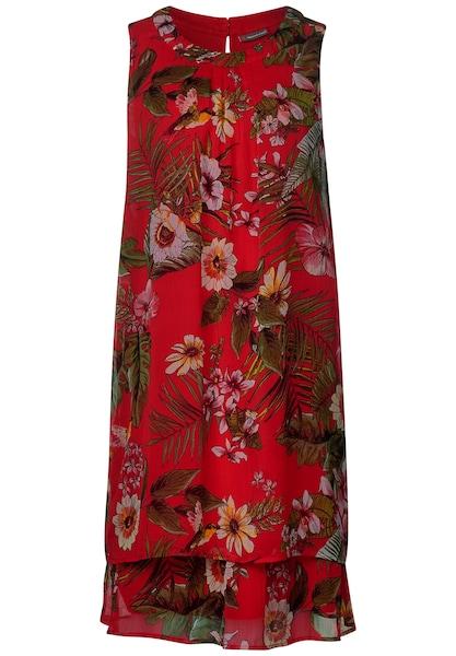Kleider für Frauen - STREET ONE Kleid grün rot  - Onlineshop ABOUT YOU