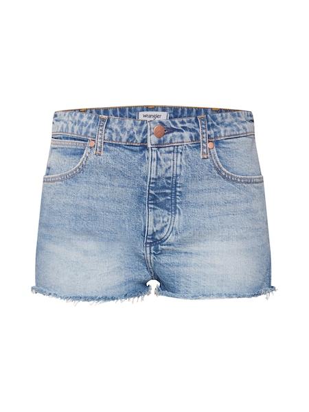 Hosen für Frauen - Jeans 'The Short' › Wrangler › blue denim  - Onlineshop ABOUT YOU