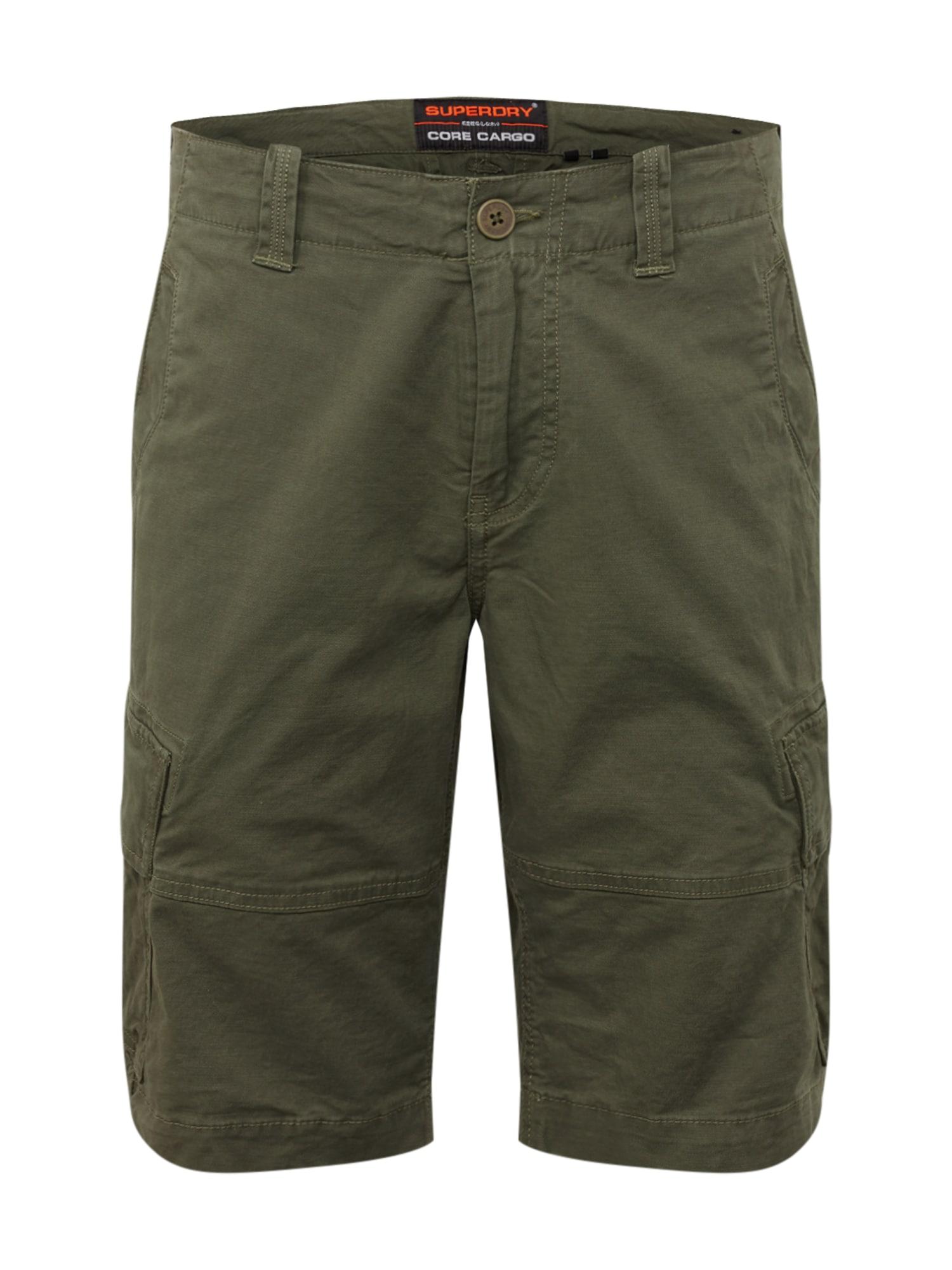 Superdry Laisvo stiliaus kelnės 'Core' tamsiai žalia