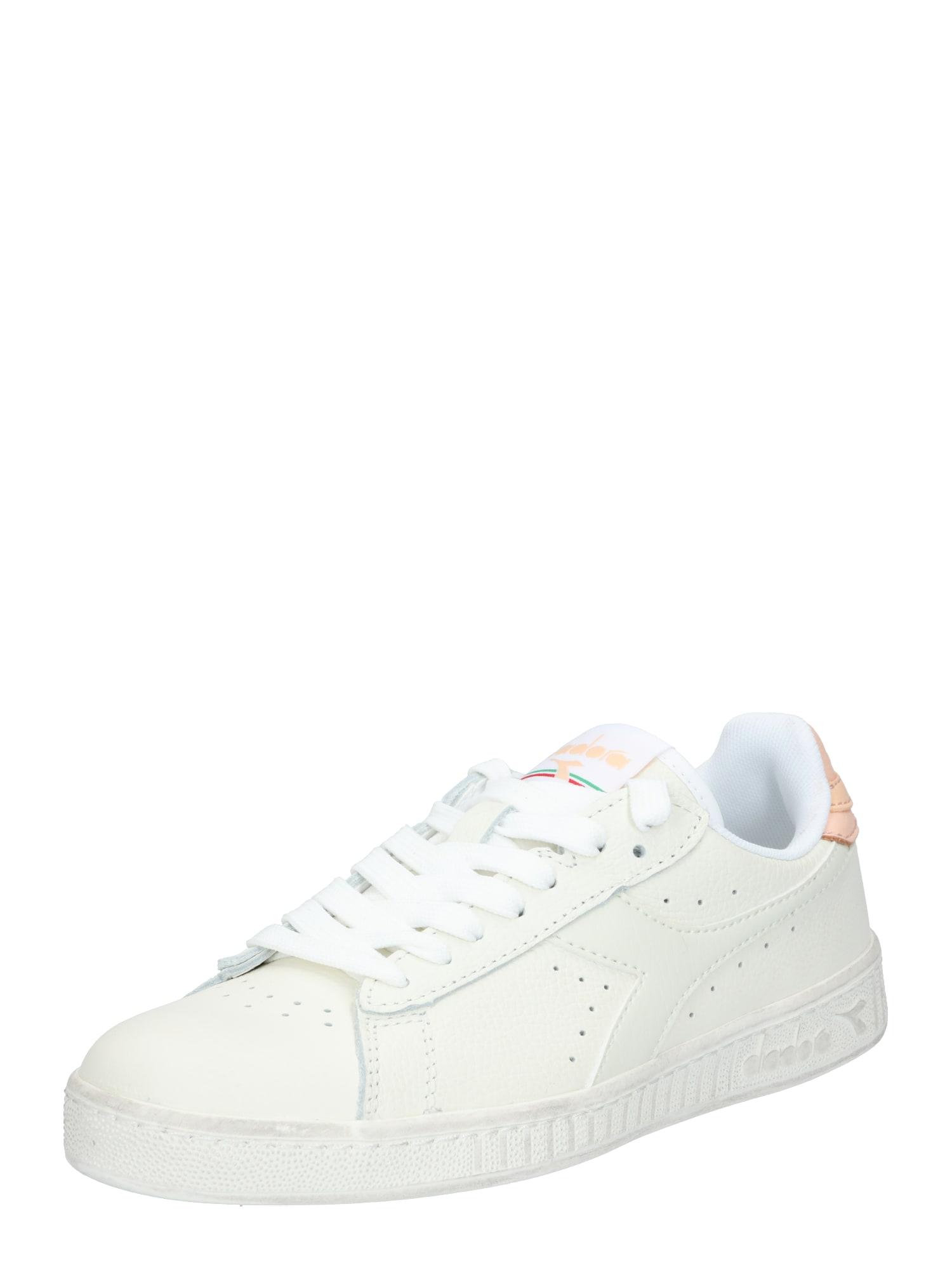 Diadora Sportiniai batai 'GAME L LOW WAXED' balta / persikų spalva