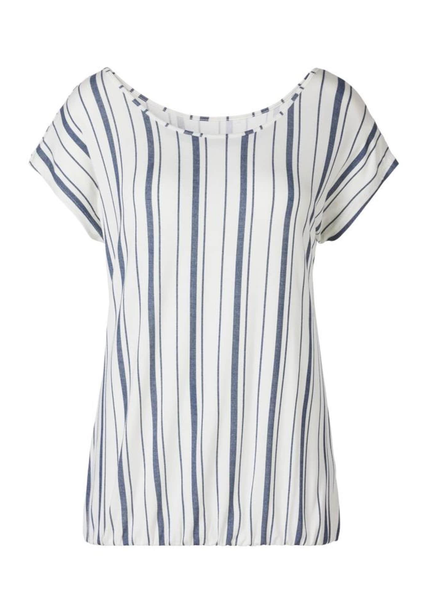 BEACH TIME Marškinėliai natūrali balta / melsvai pilka