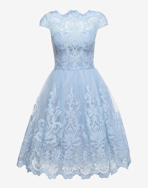 chi chi london kleid mit schwingendem rock 39 rhiannon dress 39 in hellblau about you. Black Bedroom Furniture Sets. Home Design Ideas