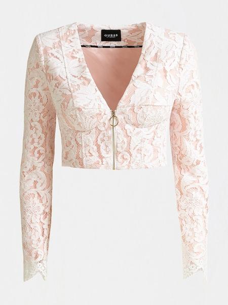 Jacken für Frauen - GUESS Jacke altrosa weiß  - Onlineshop ABOUT YOU