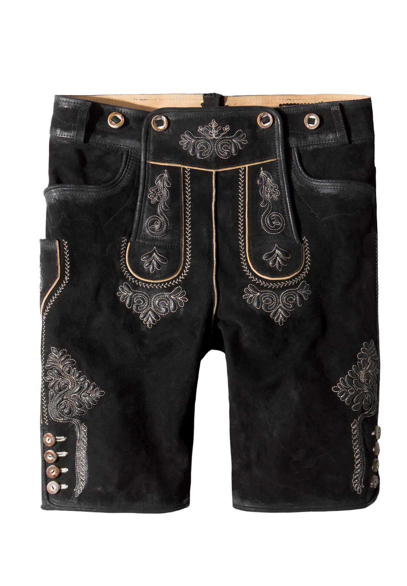STOCKERPOINT Kelnės su tradiciniais raštais juoda