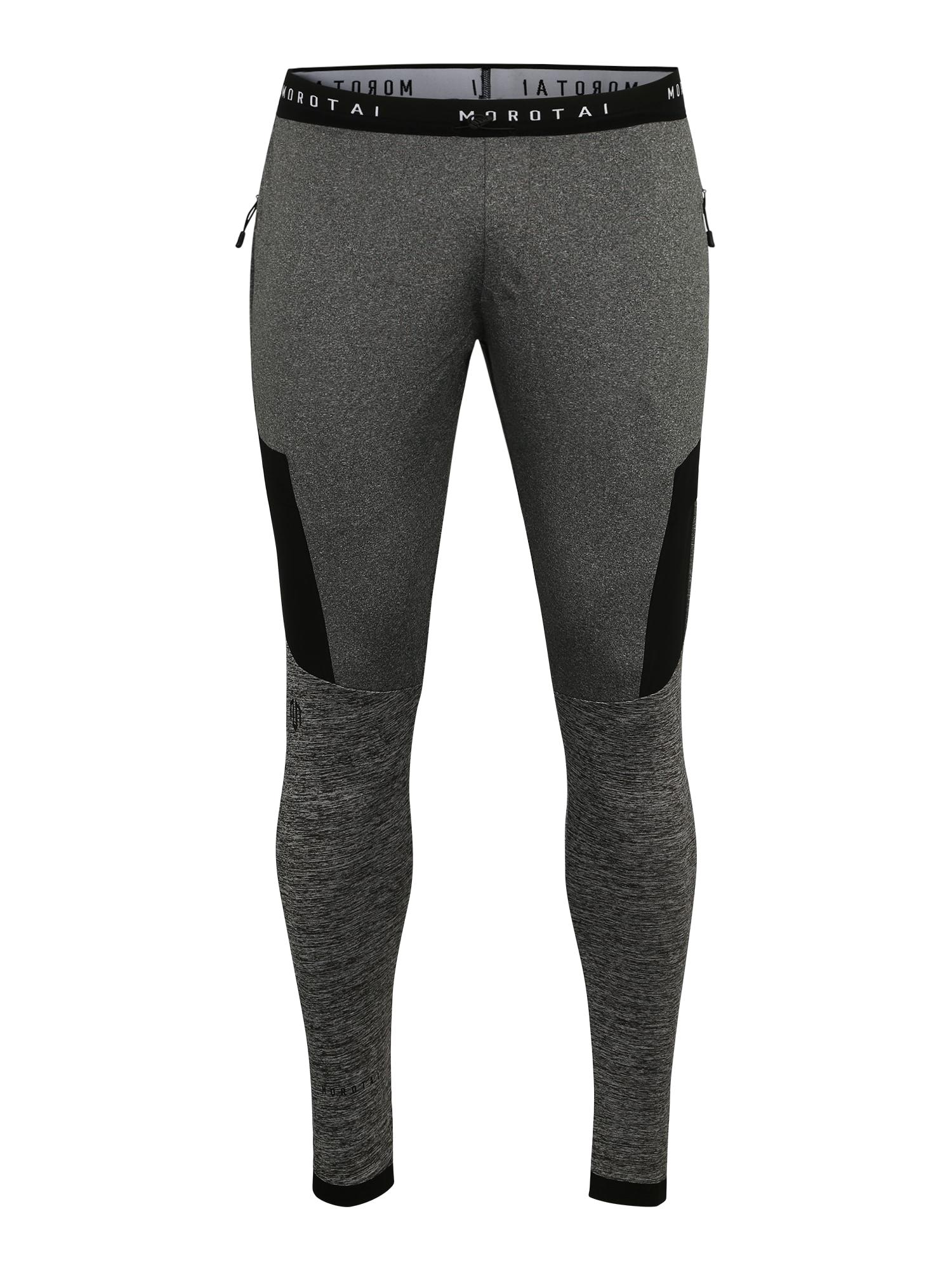 Sportovní kalhoty Running Performance Pants šedý melír černá MOROTAI