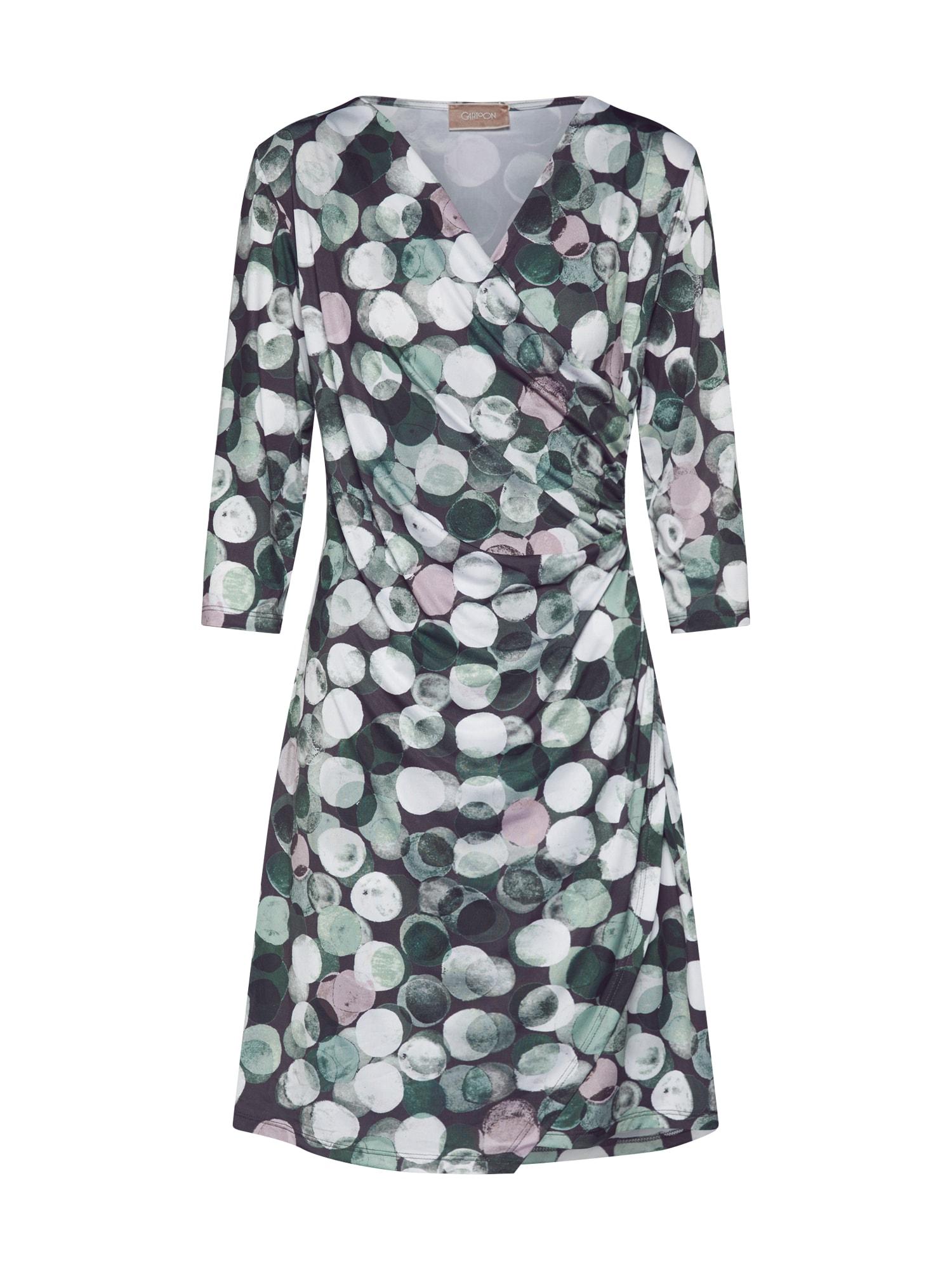 Cartoon Vasarinė suknelė balta / juoda / rožių spalva / žalia