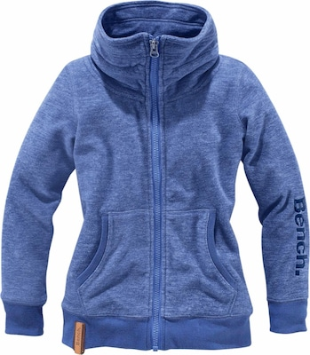 BENCH Fleecejacke mit Logostickerei am Ärmel