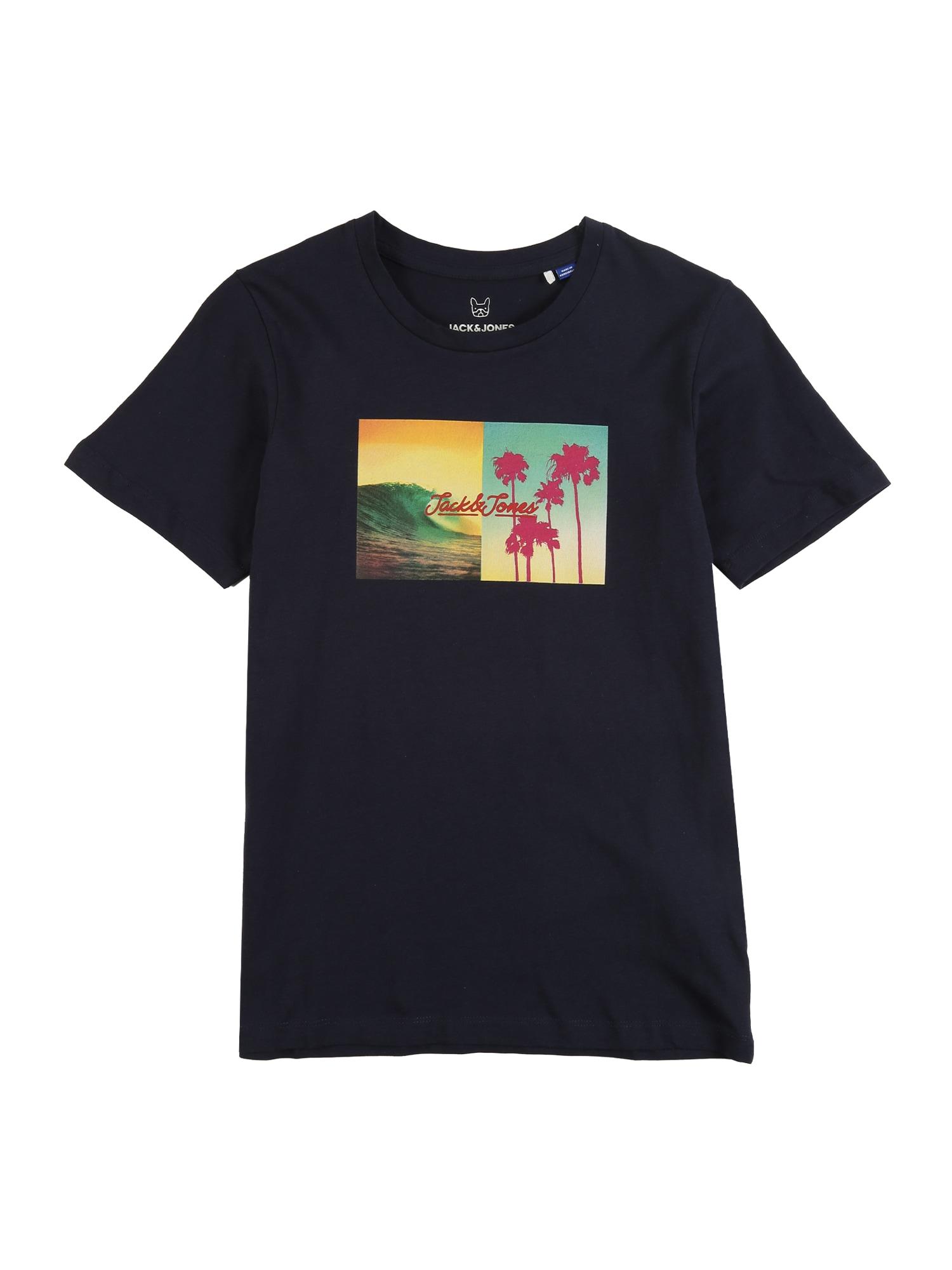 Jack & Jones Junior Marškinėliai 'JORSUITE TEE SS CREW NECK JR' tamsiai mėlyna