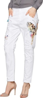 Miss Goodlife 'Butterfly Paillette' Slimfit Denim