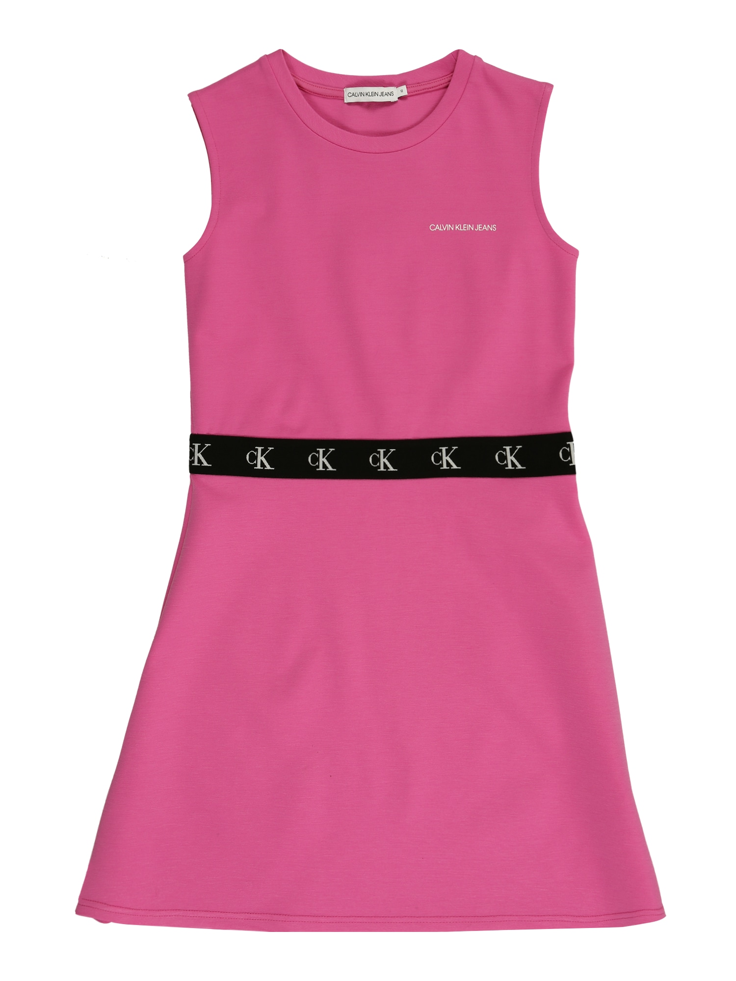 Calvin Klein Jeans Suknelė 'MONOGRAM PUNTO' rožinė / juoda
