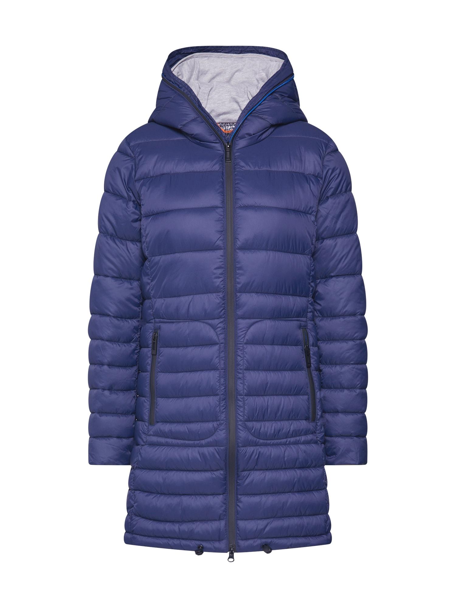EDC BY ESPRIT Žieminis paltas tamsiai mėlyna