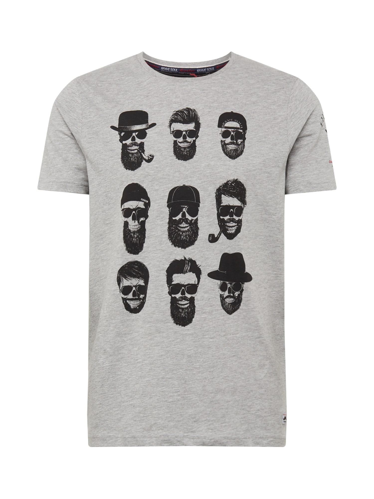 BRAVE SOUL Marškinėliai margai pilka