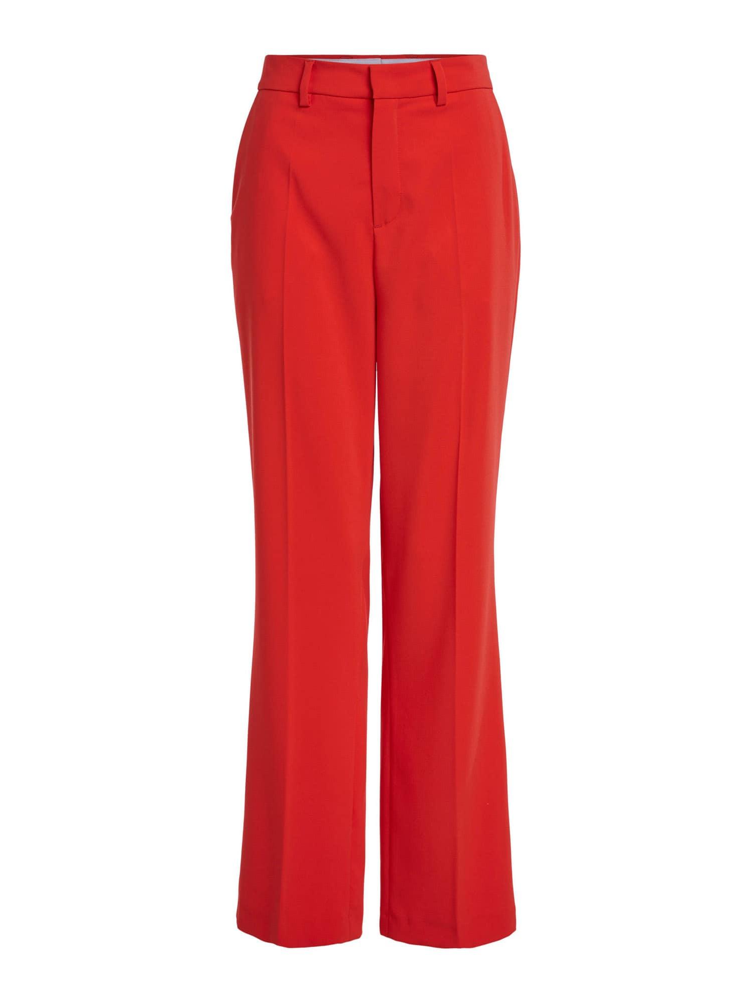 SET Kelnės su kantu oranžinė-raudona