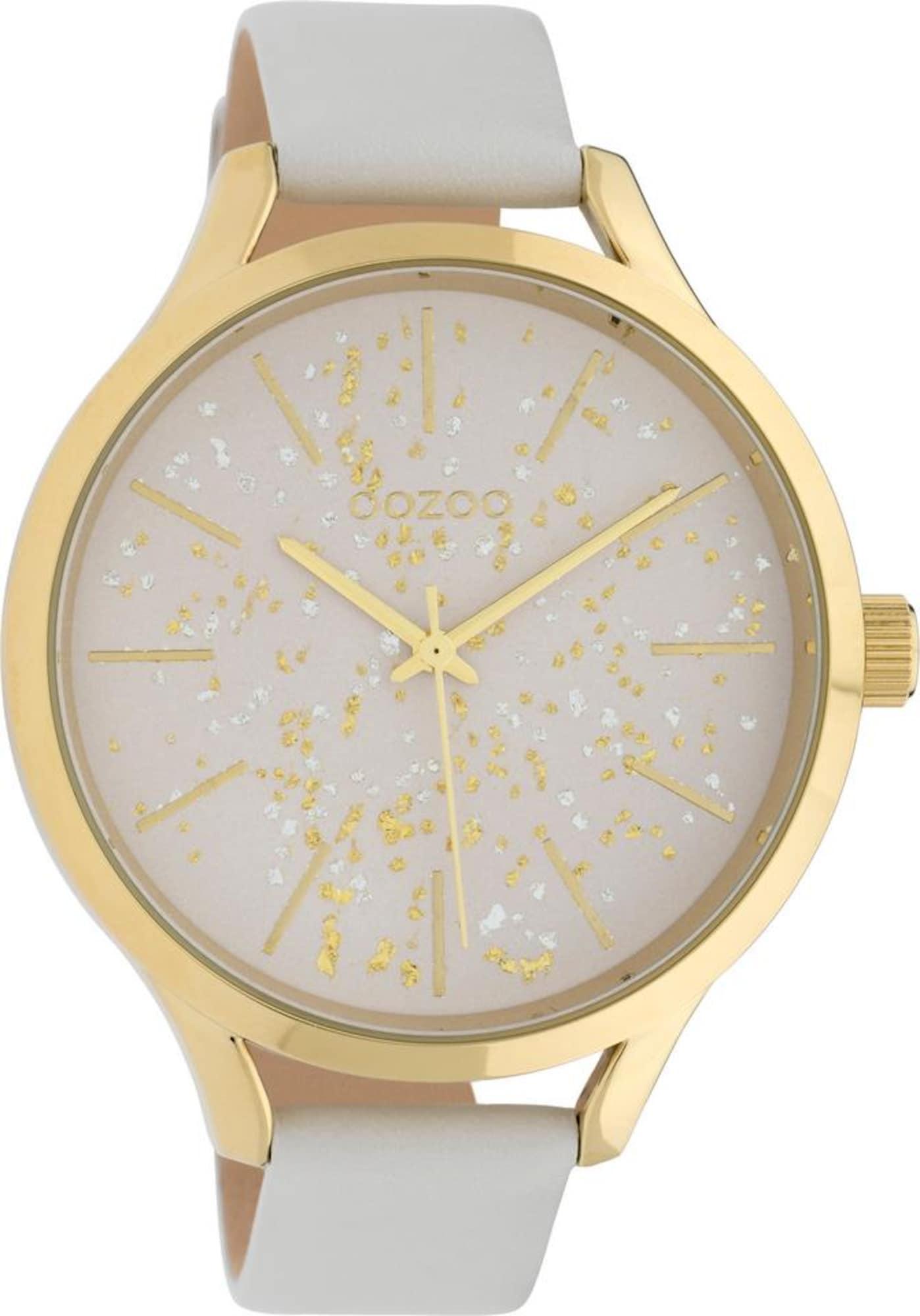 Damen OOZOO Uhr 'C10085' gold,  grau | 08719929011067