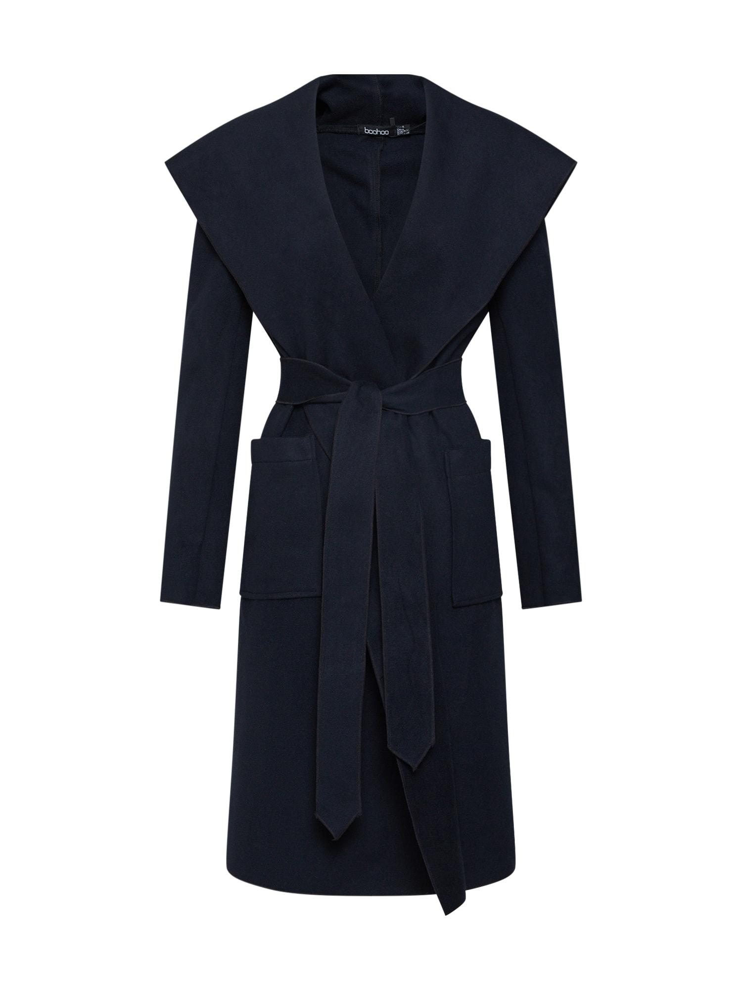 Přechodný kabát námořnická modř Boohoo