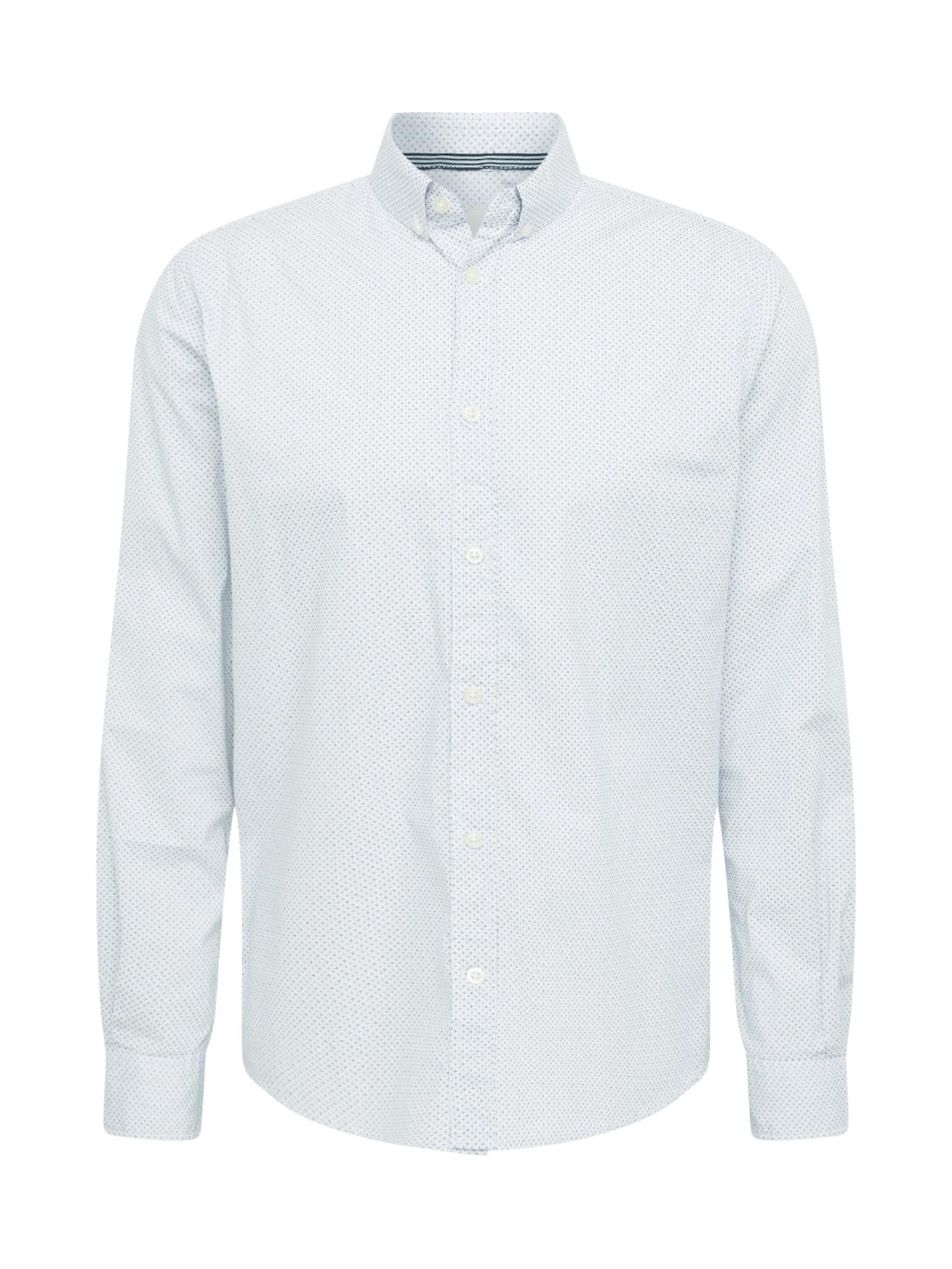 TOM TAILOR Marškiniai balta / mėlyna