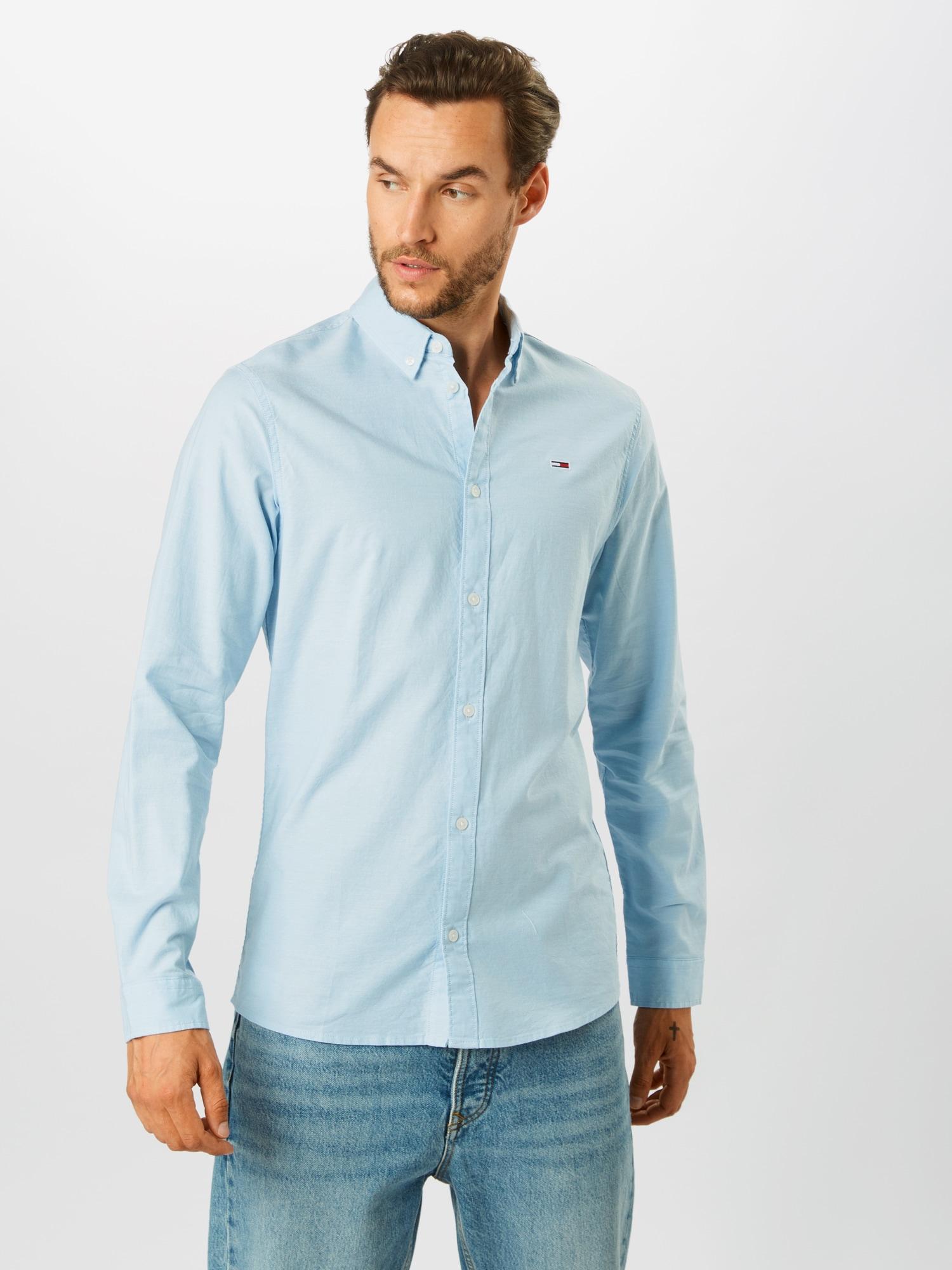 Tommy Jeans Skjorta 'Oxford'  pastellblå