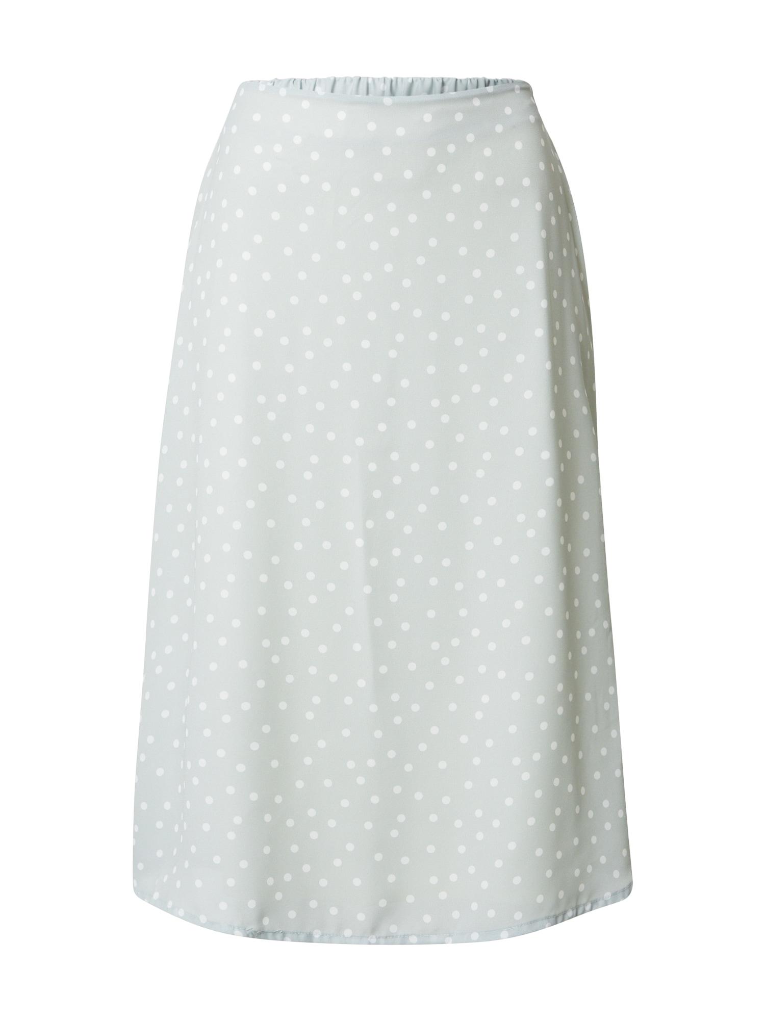 SISTERS POINT Sukňa 'MAE'  biela / pastelovo zelená