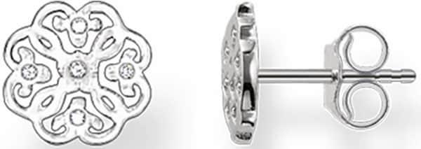 Ohrringe für Frauen - Thomas Sabo Paar Ohrstecker 'H1881 051 14' silber weiß  - Onlineshop ABOUT YOU