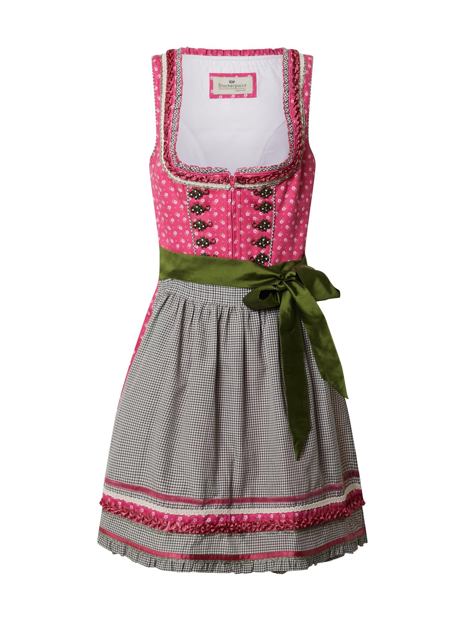 STOCKERPOINT Dirndlis alyvuogių spalva / rožinė