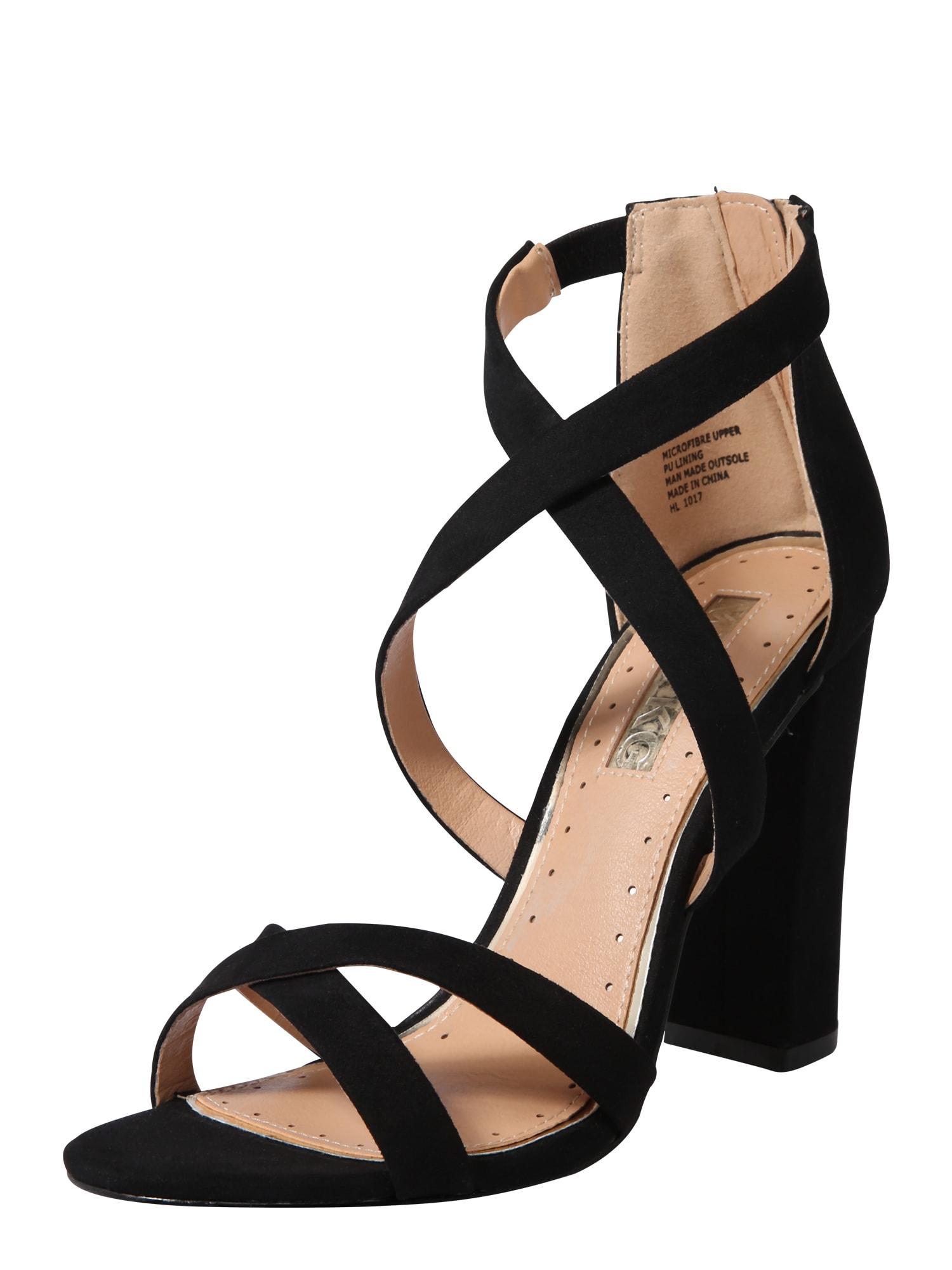 Páskové sandály FAUN černá Miss KG