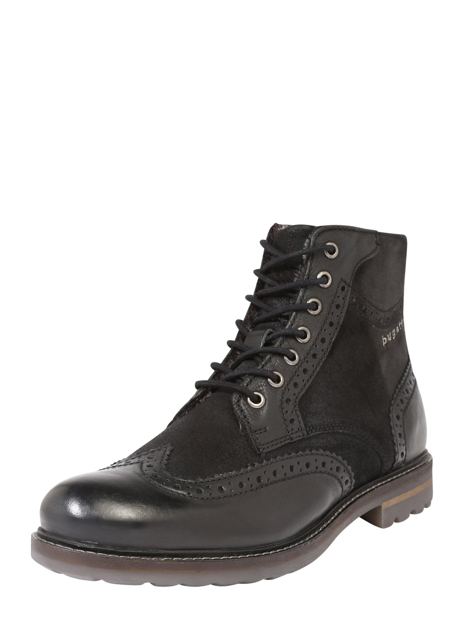 bugatti Auliniai batai su raišteliais 'Silvestro' juoda