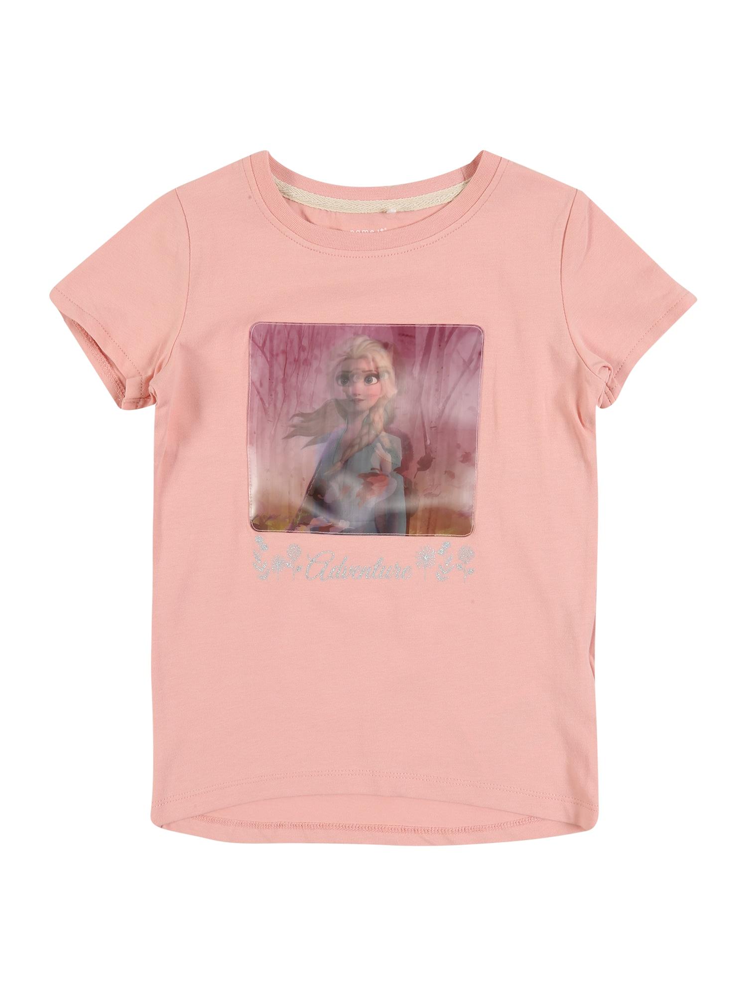 NAME IT Marškinėliai 'NMFFROZEN' rožinė
