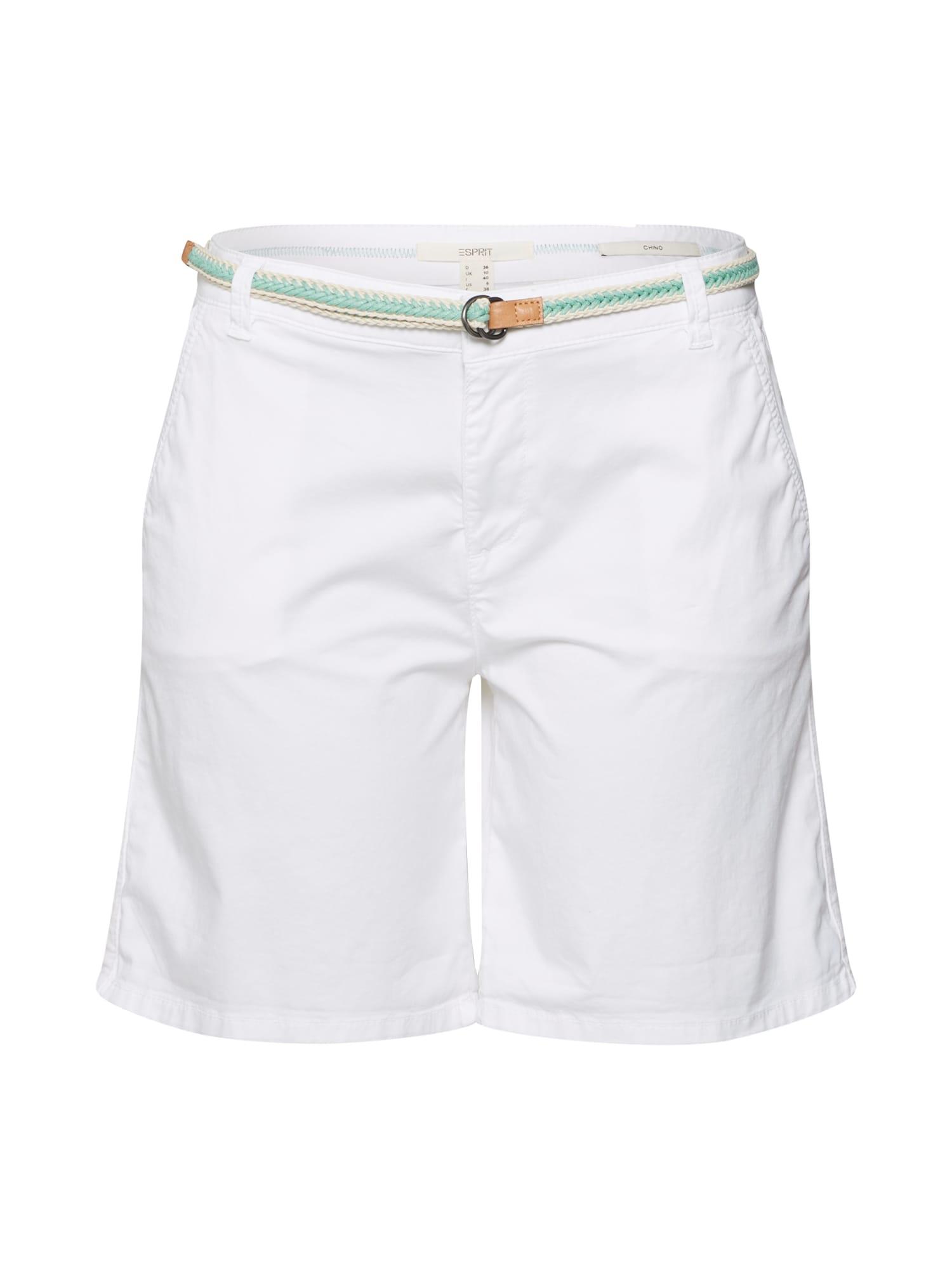 ESPRIT Chino stiliaus kelnės balta