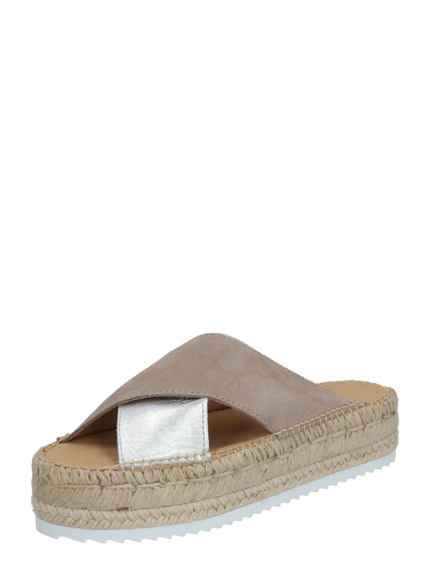 espadrij l´originale Šlepetės 'Croisette' smėlio / pilka / sidabras