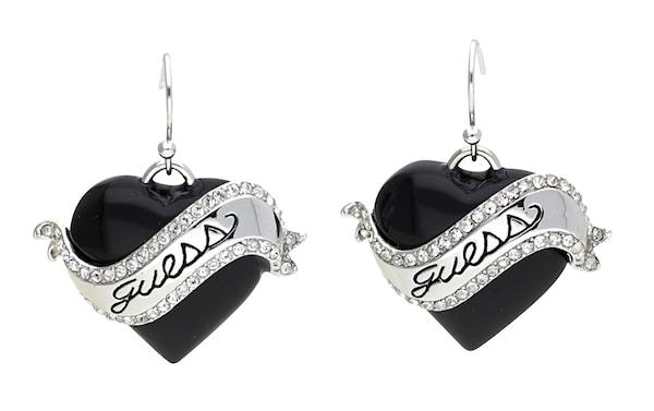 Ohrringe für Frauen - GUESS Ohrhänger 'UBE81112' schwarz silber  - Onlineshop ABOUT YOU