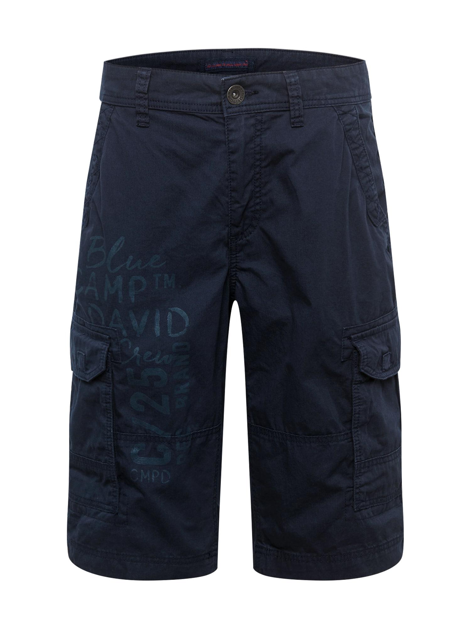 CAMP DAVID Laisvo stiliaus kelnės 'Skater' tamsiai mėlyna
