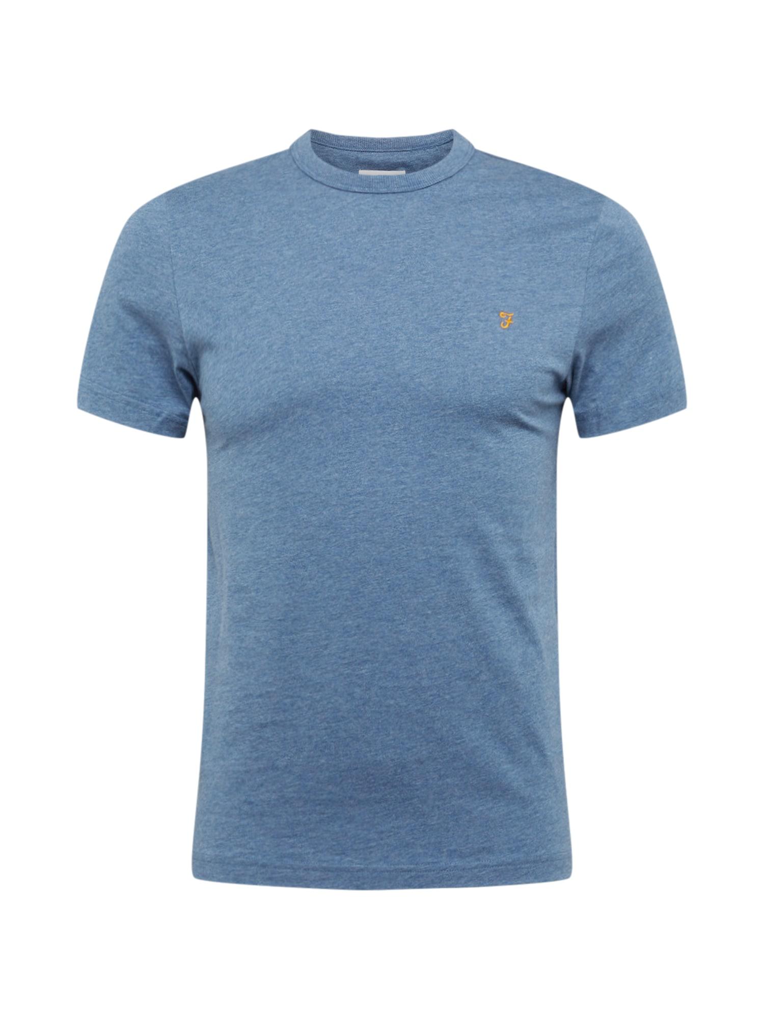 FARAH Marškinėliai 'DENNIS SOLID SS TEE' tamsiai mėlyna