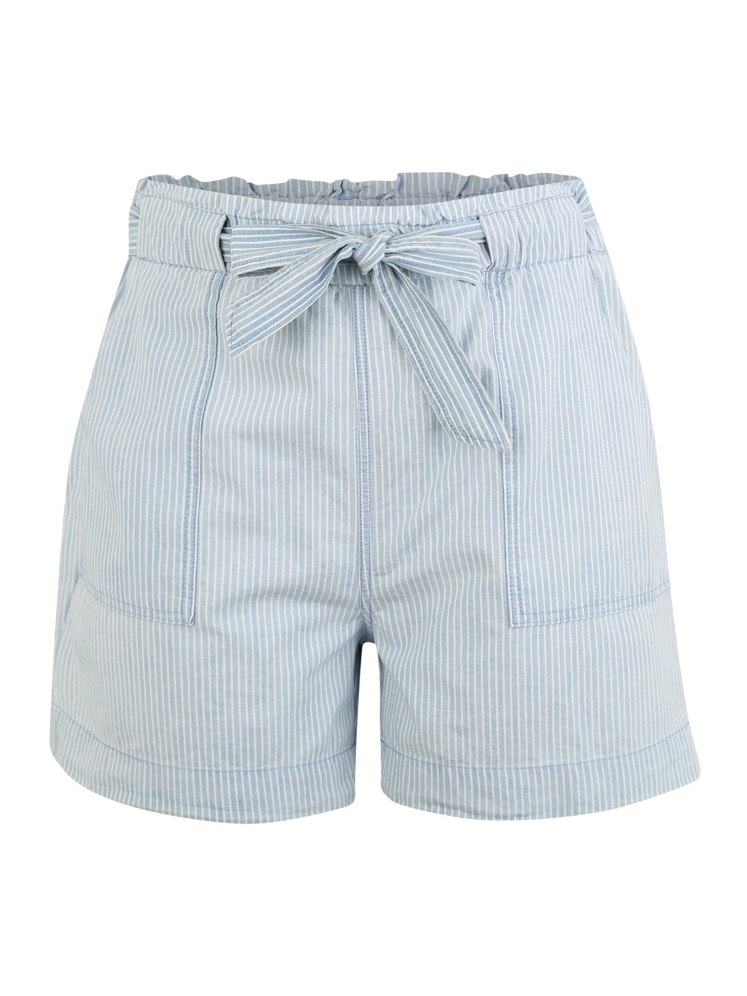 Kalhoty CHAMBRAY světlemodrá bílá Vero Moda Curve
