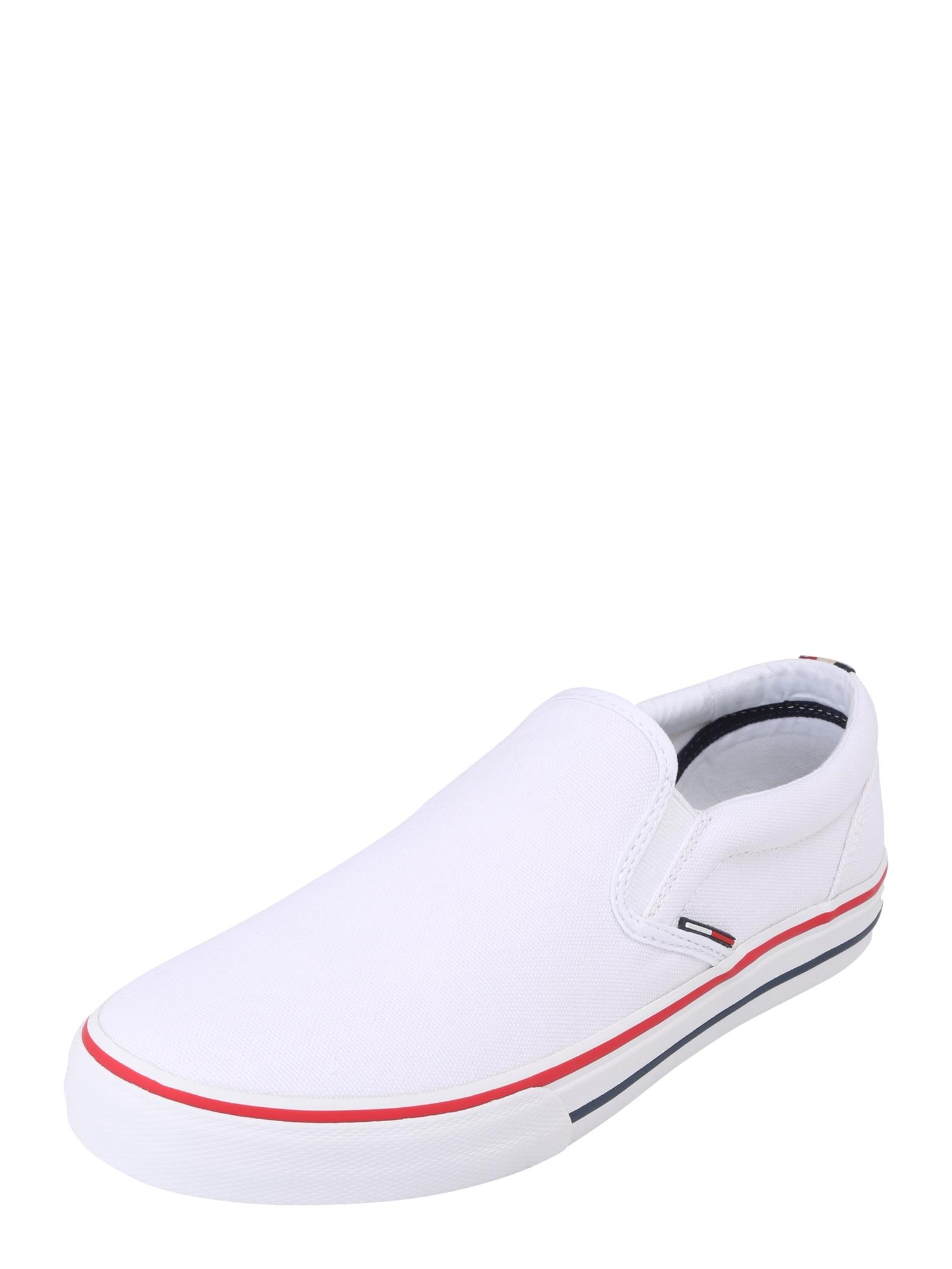 Tommy Jeans Batai be raištelių balta / raudona