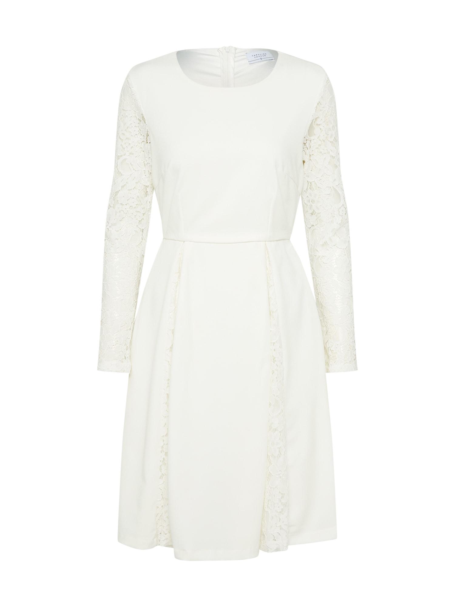 Koktejlové šaty bílá Carolina Cavour