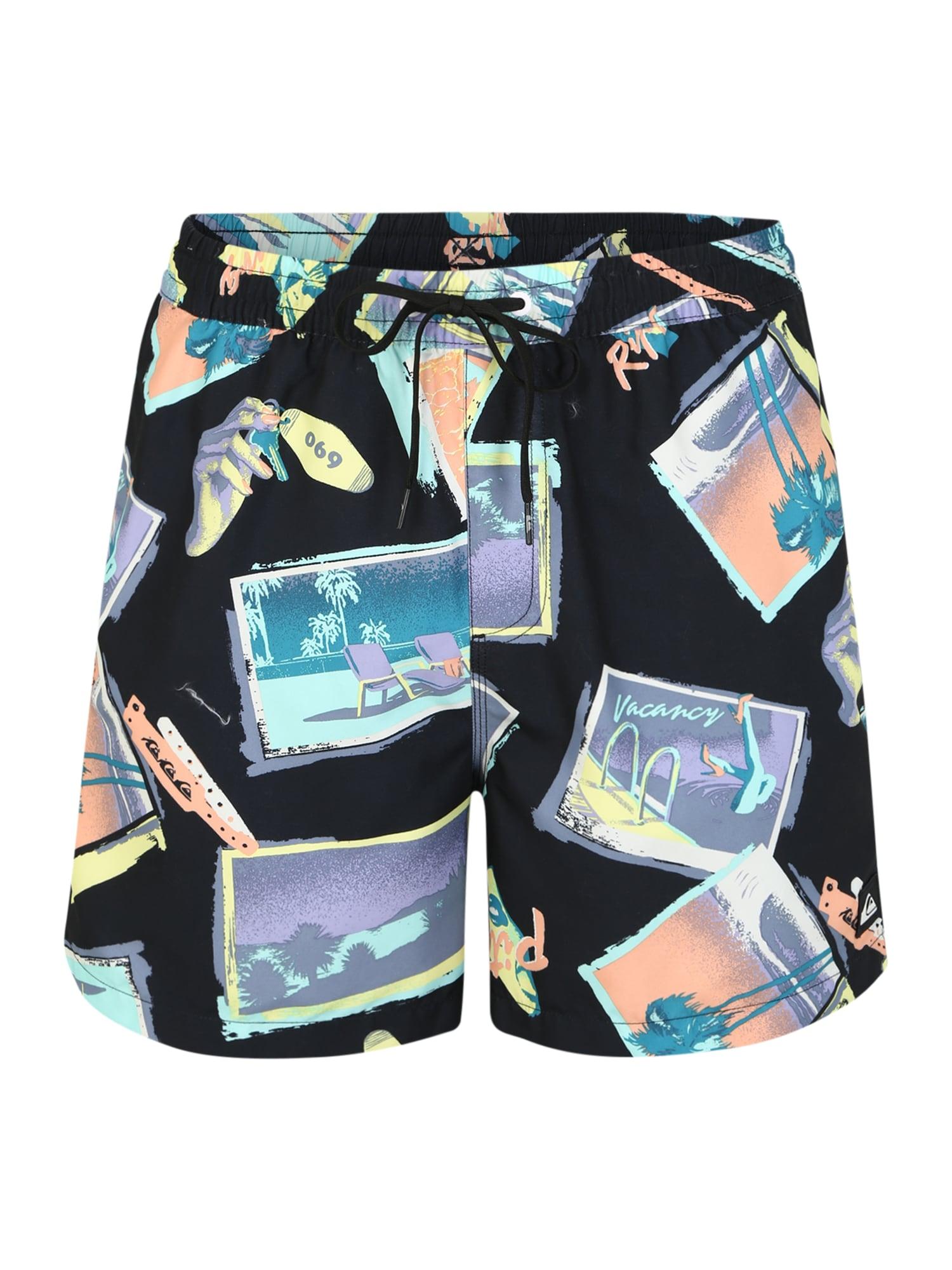 QUIKSILVER Plavecké šortky  zmiešané farby / čierna
