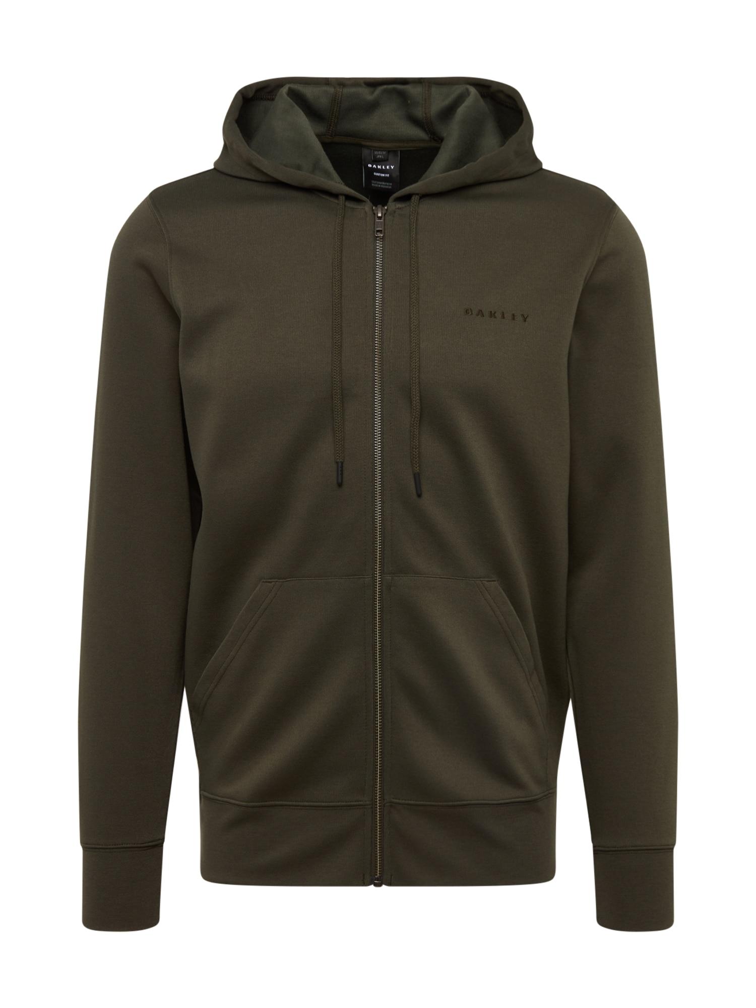 OAKLEY Sportinis džemperis 'FULL FLEX PERFORMANCE FZ' alyvuogių spalva
