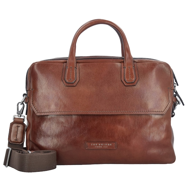 Businesstaschen - Williamsburg Aktentasche Leder 37 cm Laptopfach › The Bridge › braun  - Onlineshop ABOUT YOU
