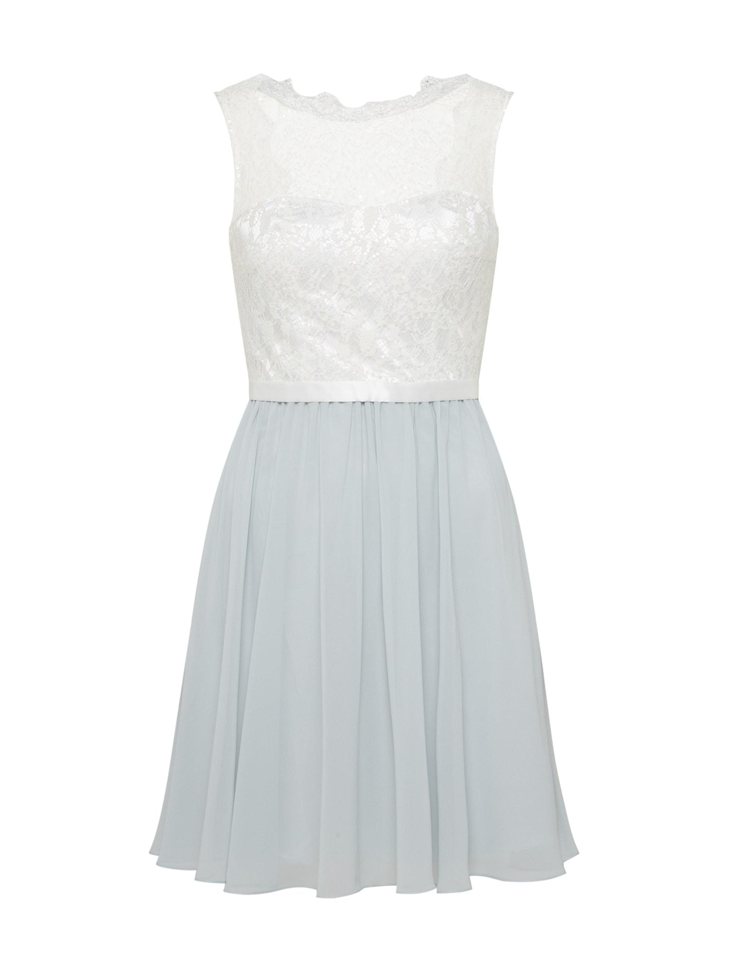 Laona Kokteilinė suknelė kremo / mėlyna dūmų spalva