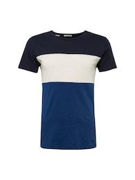 SELECTED HOMME Herren T-Shirt SLHPARKER blau,schwarz,weiß | 05713752378963