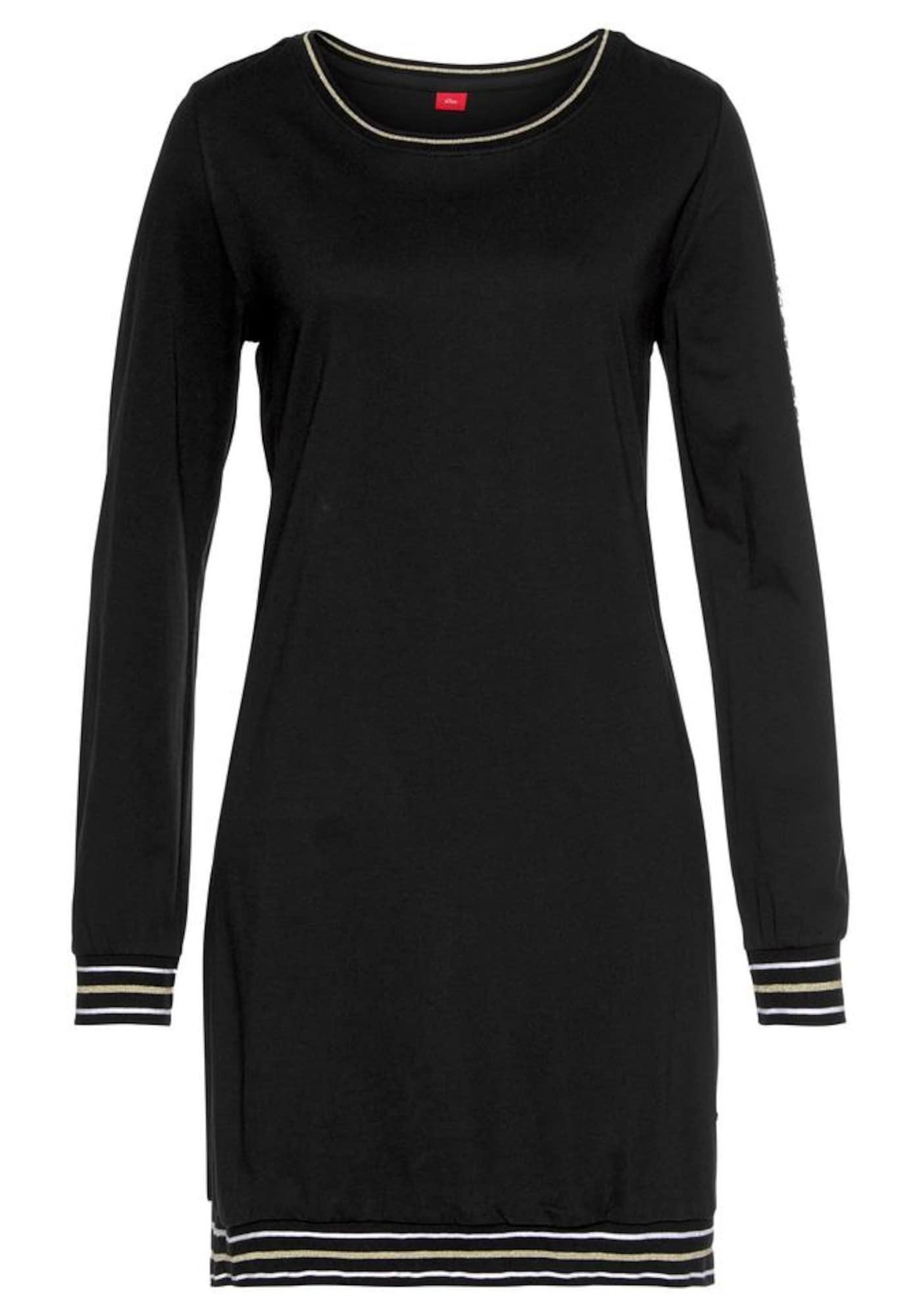 s.Oliver Pižaminiai marškinėliai juoda / smėlio
