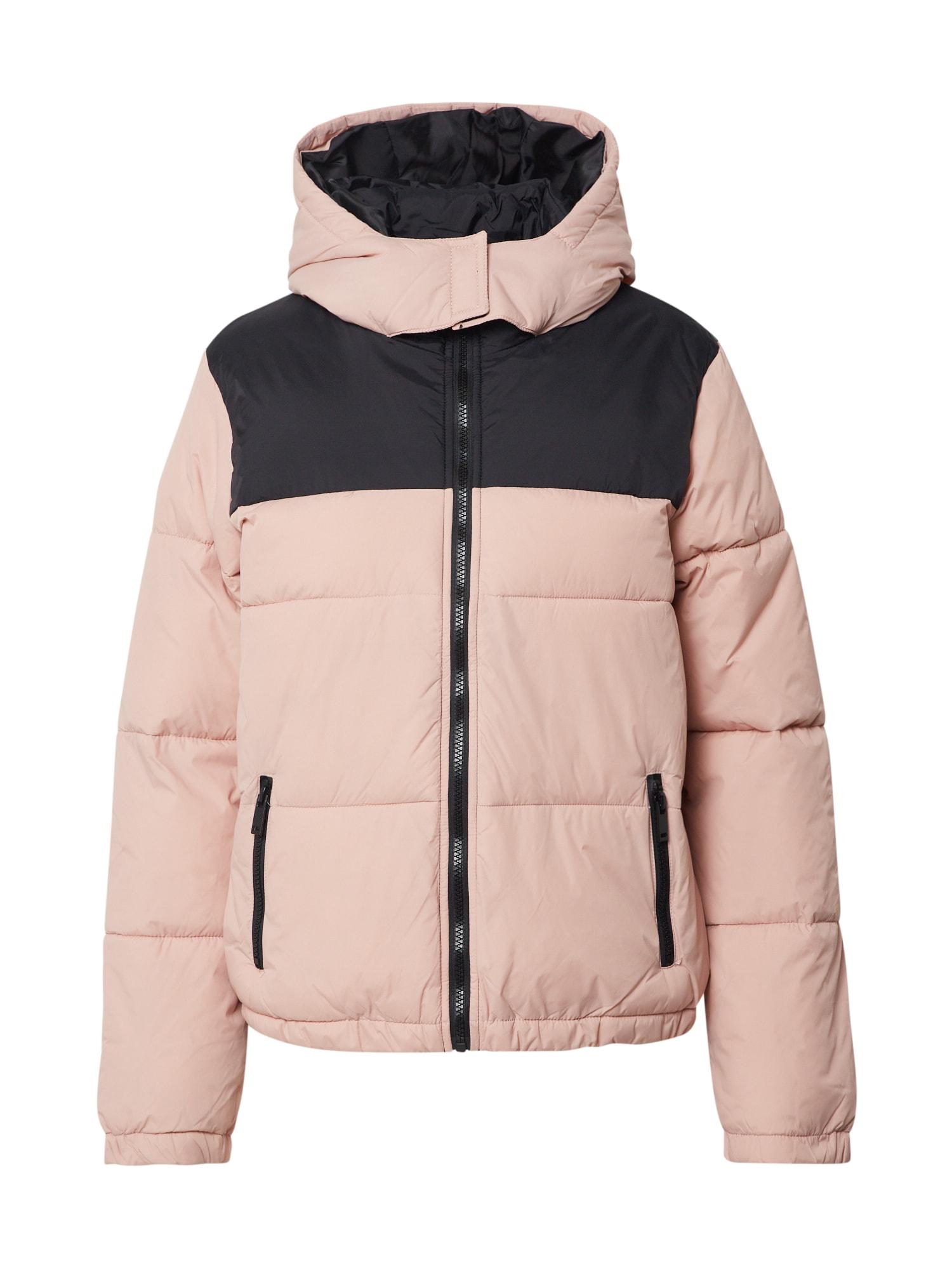 NEW LOOK Zimná bunda 'AVERY'  ružová / čierna